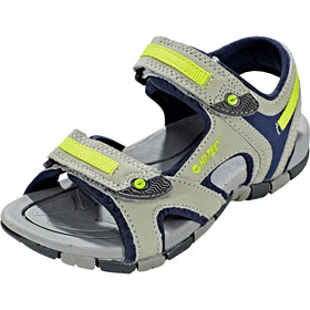 Hi-Tec GT Strap Sandalias Niños, cool grey/majolica blue/limonclimoncello